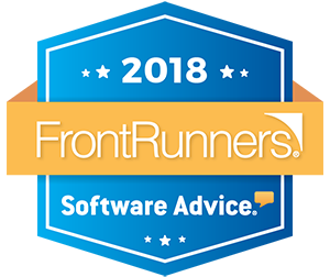 2018 FrontRunners Software Advice Logo